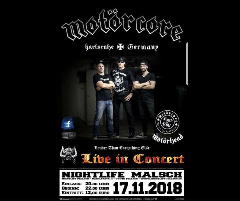 Motörcore live im Nightlife Malsch
