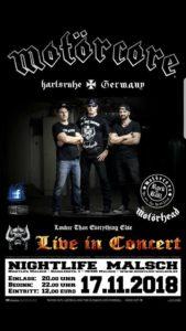 Motörcore live im Nightlife Malsch_